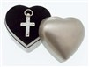Sculpted Silver Finish Cross with Plain Case