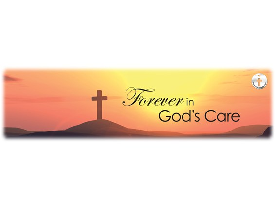 Forever in God's Care Sunset Burial Vault Image