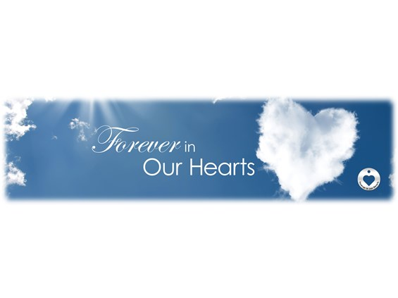 Forever in our Hearts Cloud Burial Vault Image