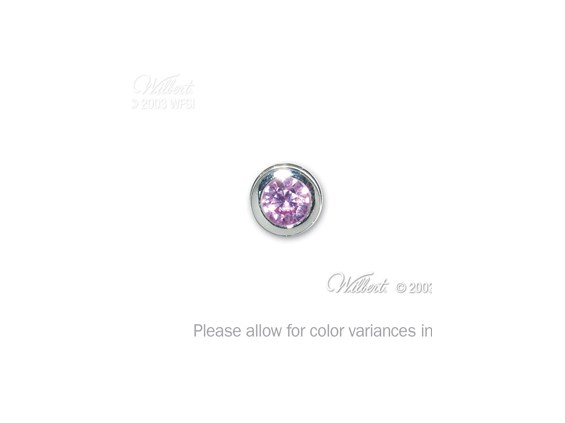 End Cap-October-Simulated Pink Tourmaline-Memorial Jewelry