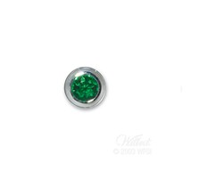 End Cap-May-Simulated Emerald-Memorial Jewelry