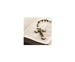Crucifix on Bible-Wilbert Legacy II Urn Vault Print