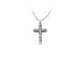 Silver Embossed Cross Pendant