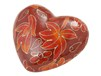 Autumn Leaves Cloisonné Heart Memento