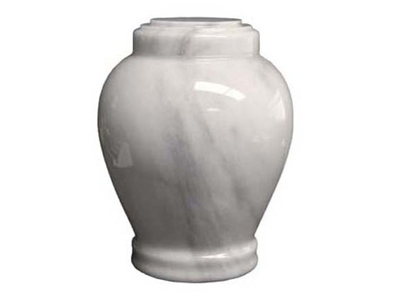 Embrace Marble White urn