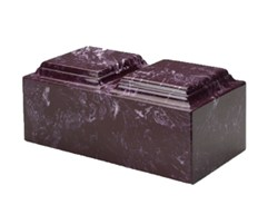 Cultured Marble Merlot Companion Urn