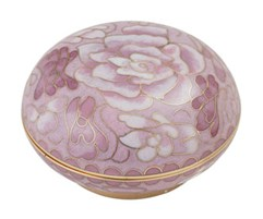 Cameo Rose Cloisonne Memory Holder
