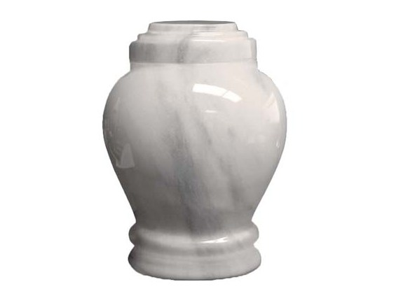 Embrace White Marble Small Urn