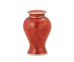 Autumn Leaves Cloisonne urn