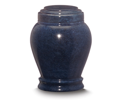 Embrace Cobalt Blue Marble Small Urn