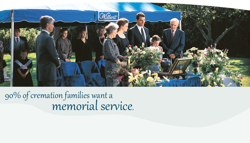 90 percent of cremation families want a service