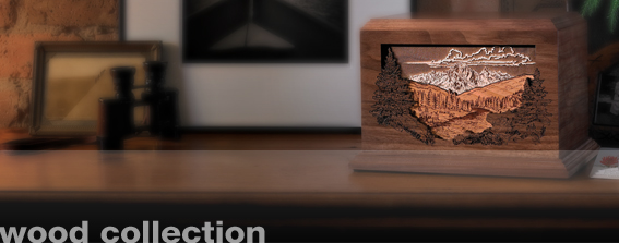 Cremation Urns-Wood Collection
