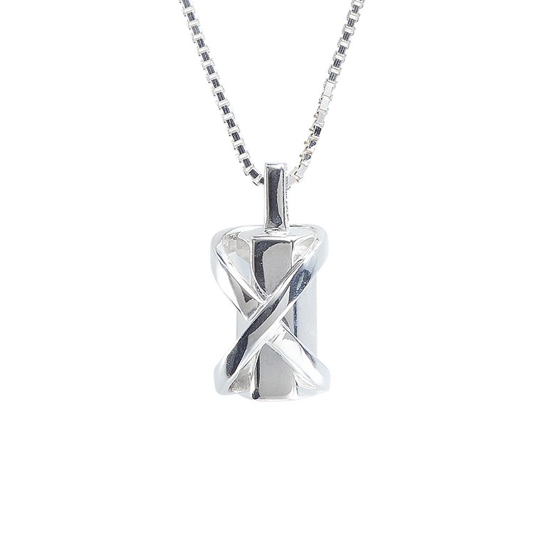 Infinity Wrap Cylinder Pendant