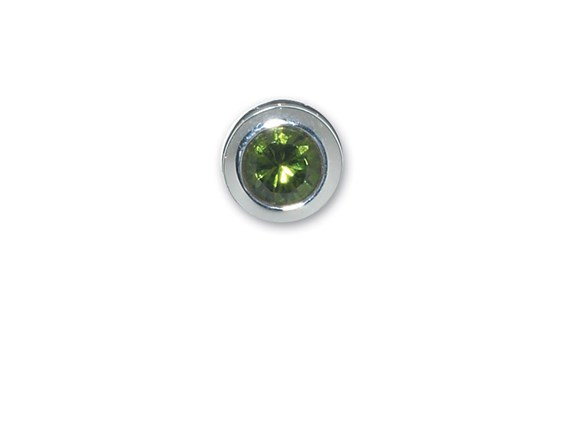 D5011-End Cap-August-Simulated Peridot-Memorial Jewelry