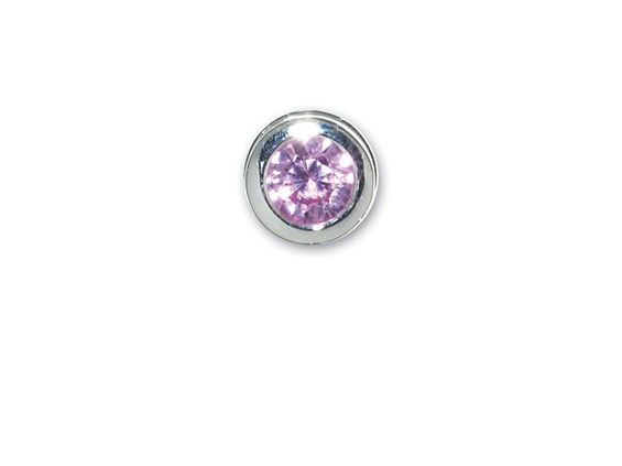 End Cap-October-Simulated Pink Tourmaline