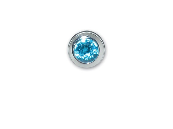 End Cap-December-Simulated Blue Topaz