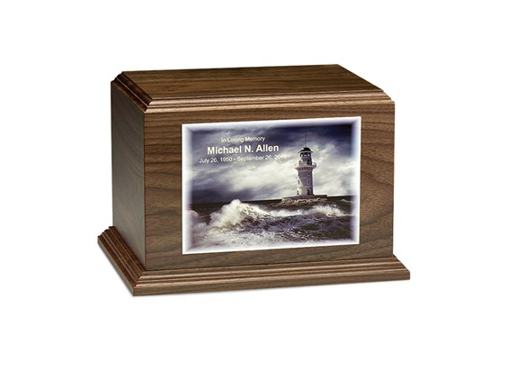Textured Color Printed Photo Horizontal Urn
