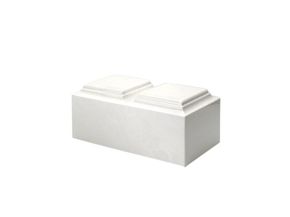Cultured Marble White Companion Urn