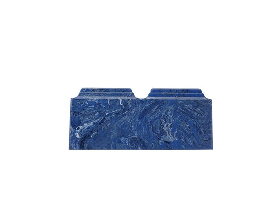 Cultured Marble Mystic Blue Companion Urn