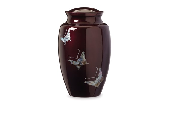 Purple Butterfly Urn