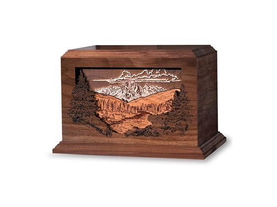 Dimensional Urn Mountain Scene