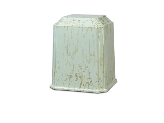 Tribute Urn Cream Gold Marble