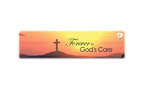 Forever in God's Care-Sunset Image for burial vaults