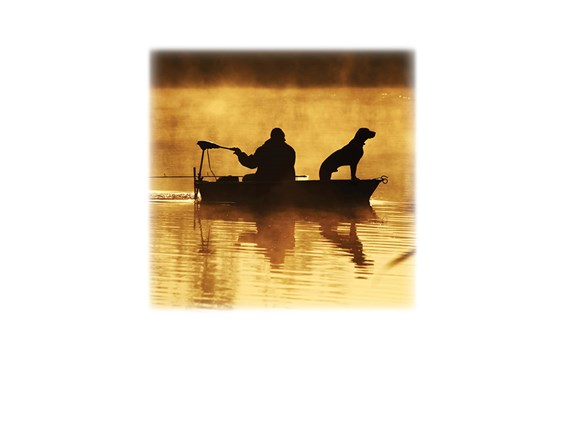 Fisherman wDog-Legacy Two Urn Vault Print