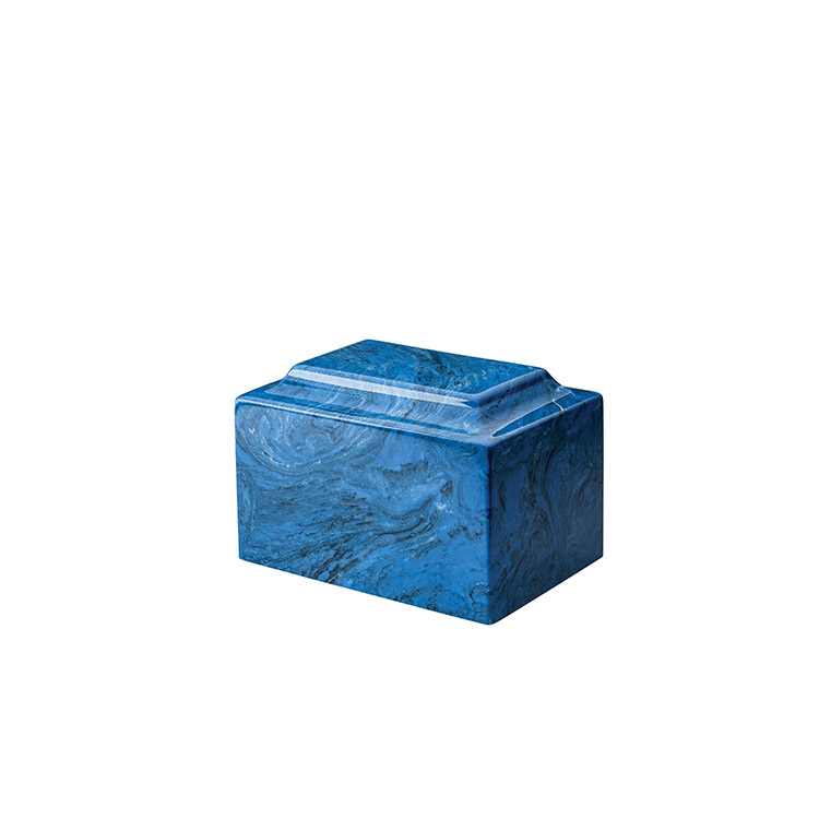 Cultured Marble Mystic Blue Urn