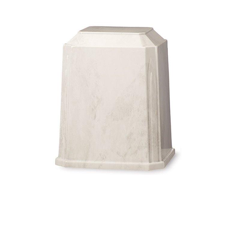 Tribute Urn White/Silver