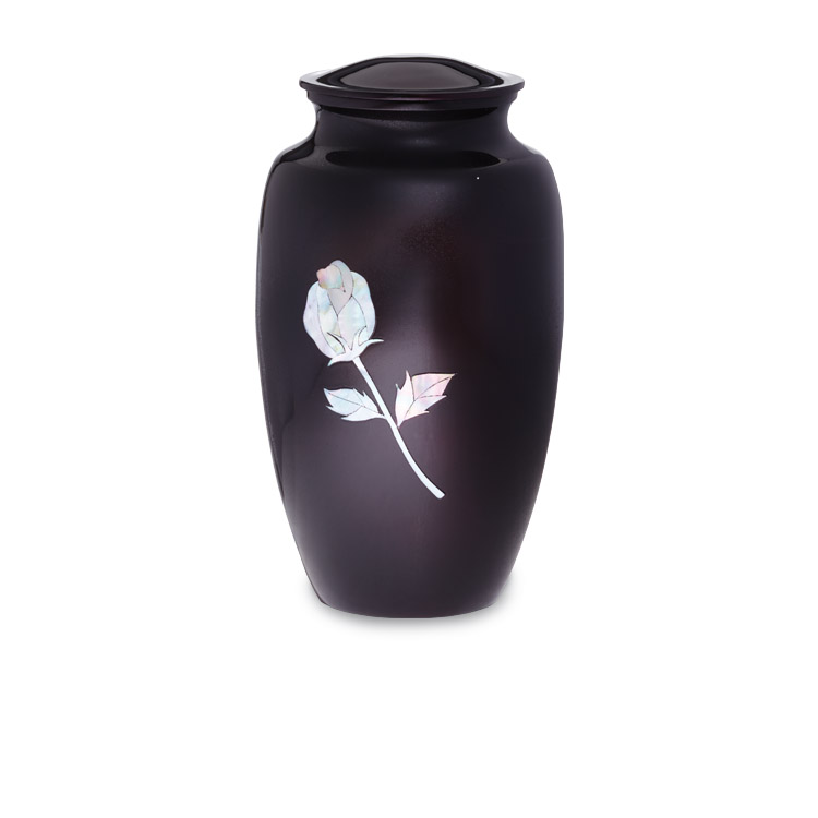 Purple Rose Urn