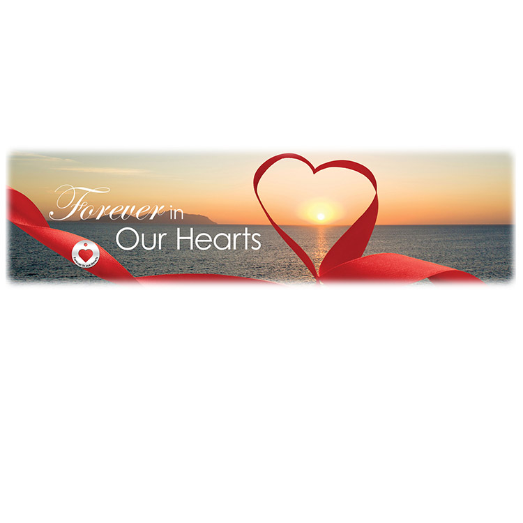 Forever in our Hearts-Sunset Image for burial vaults