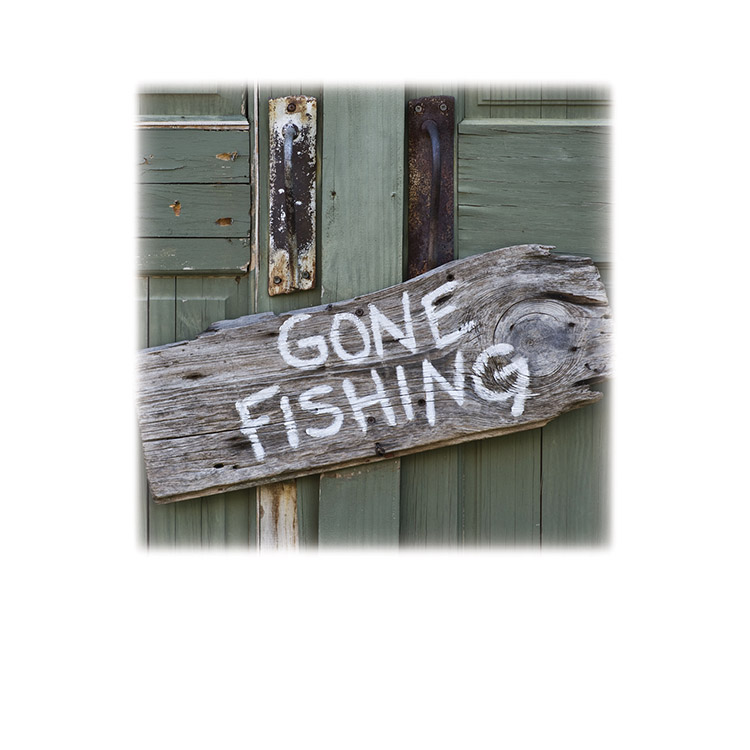 Gone Fishing-Legacy Two Urn Vault Print