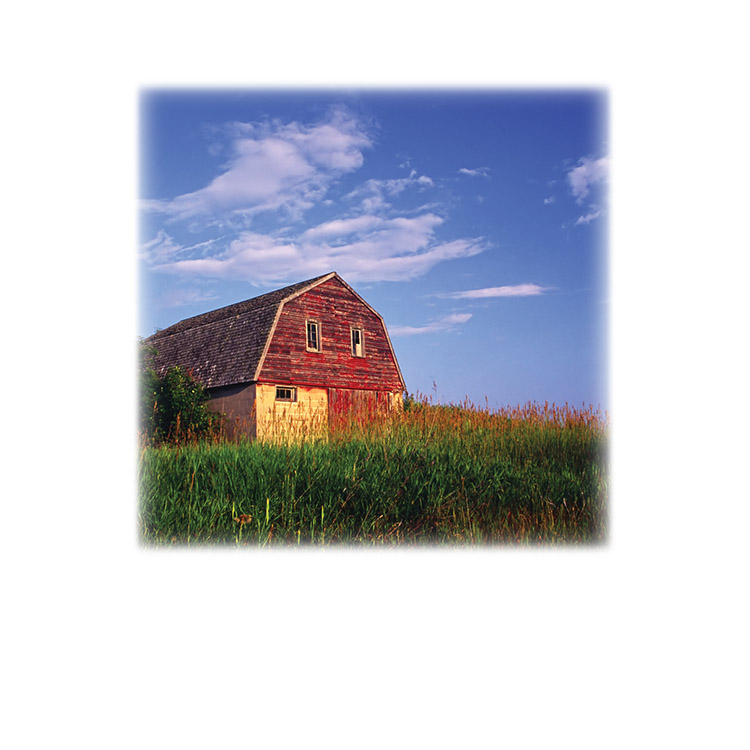 Red Barn-Legacy Two Urn Vault Print