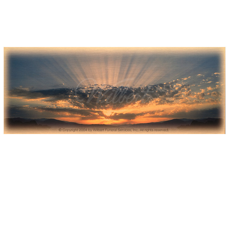 Sunrise/Sunset-Wilbert Legacy Series Print