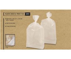 Plastic Bags with Twist Ties