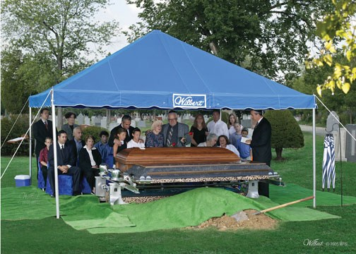 Traditional Burial Jewish Family Graveside And