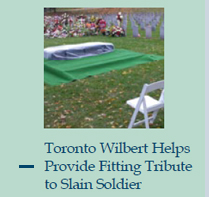 Toronto Wilbert Helps Provide Fitting Tribute to Slain Soldier